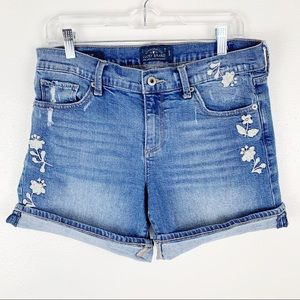 Lucky Floral Embroidered The Rollup Shorts 8